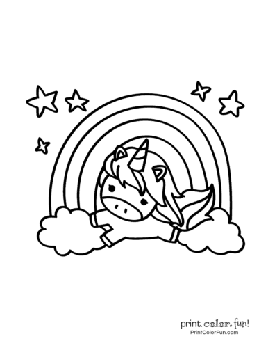 Printable unicorn coloring page (5)