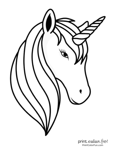 Unicorn with a simple mane