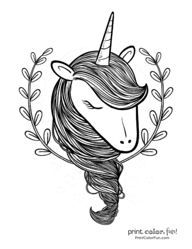 Sleepy unicorn printable