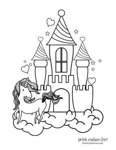 Printable unicorn coloring page (7)