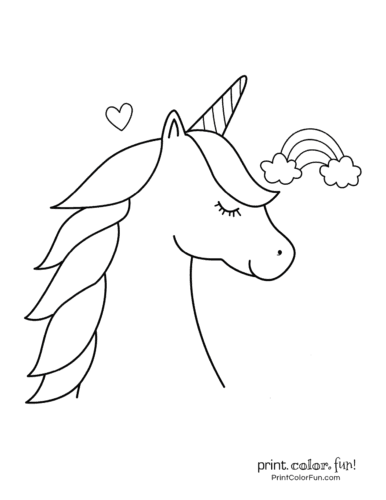 Printable unicorn coloring page (8)