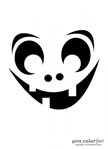 Pumpkin-carving-stencil--goofy-ghoul