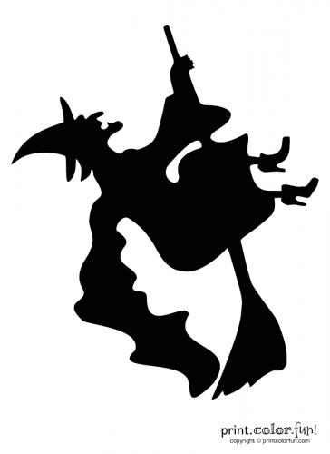 Pumpkin-carving-stencil--witch