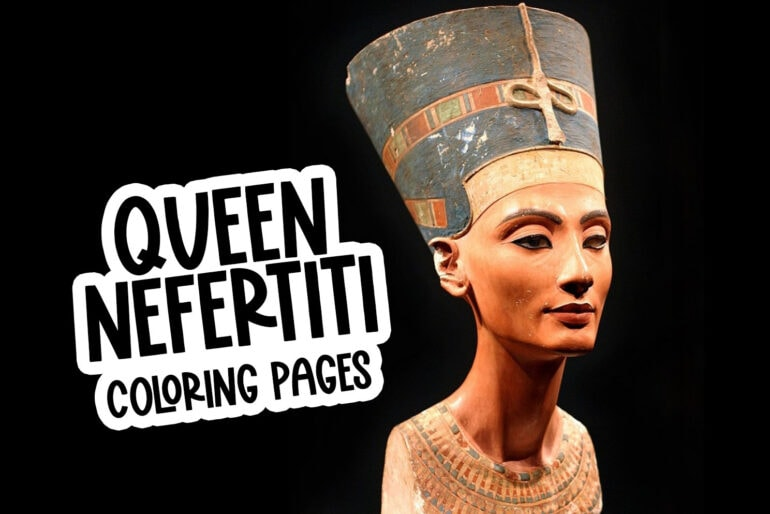 Queen Nefertiti coloring pages