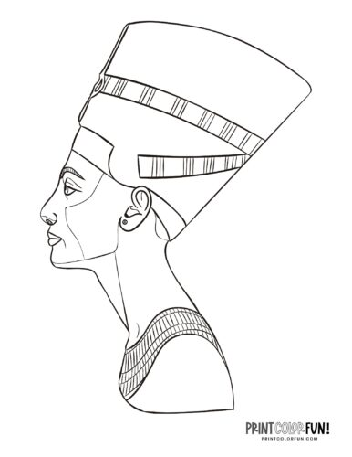 Queen Nefertiti coloring pages - Ancient Egypt (1)