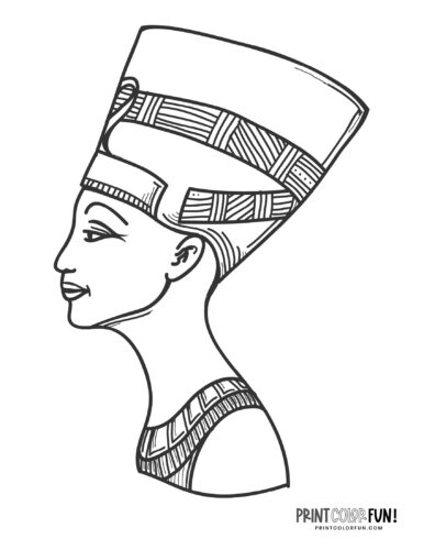 Queen Nefertiti coloring pages - Ancient Egypt (2)