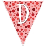 Red polka dots with white letters 4