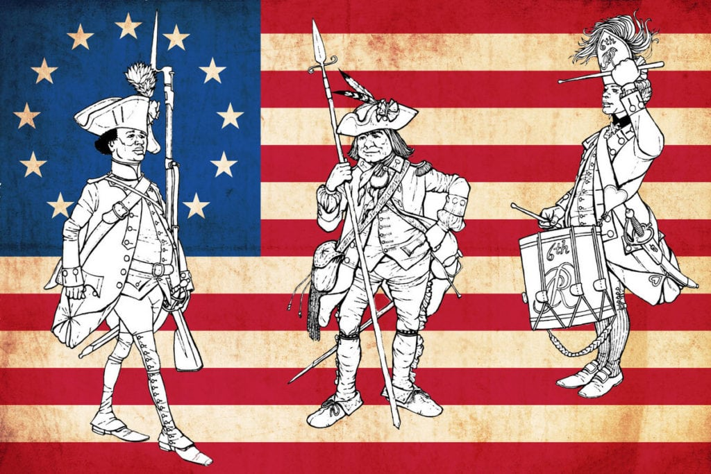 Revolutionary war coloring pages