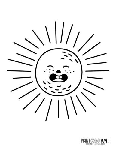 Silly sun face
