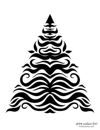 Simple decorative and abstract Xmas tree