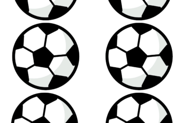 Soccer ball coloring printables - set of 6