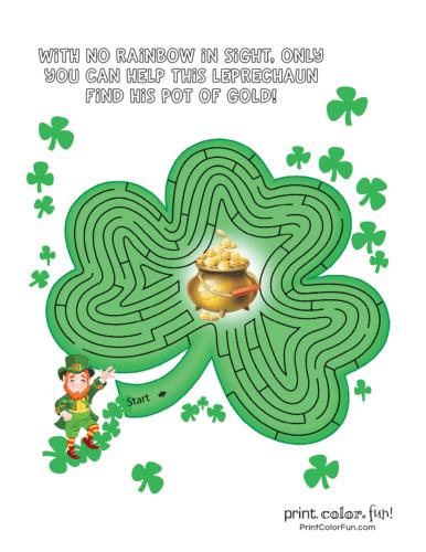 St Patrick's Day maze (1)