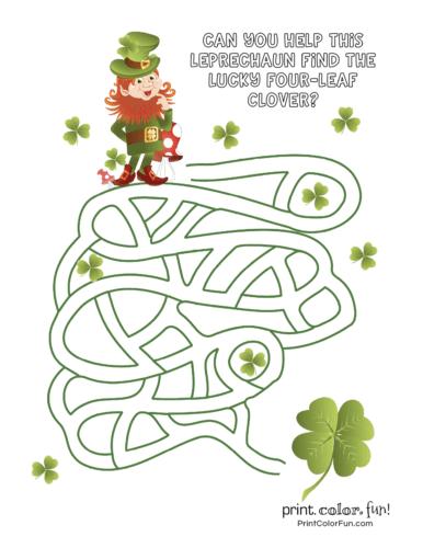 St Patrick's Day maze (2)