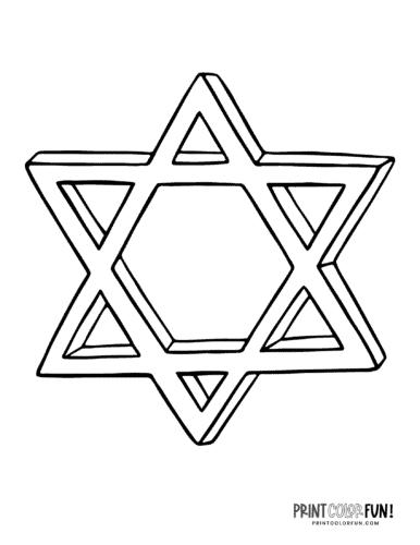 Star of David - Hanukkah coloring page2
