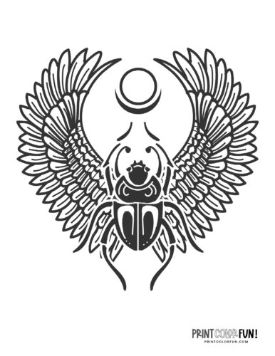 Stylized ancient scarab beetle design from Egypt