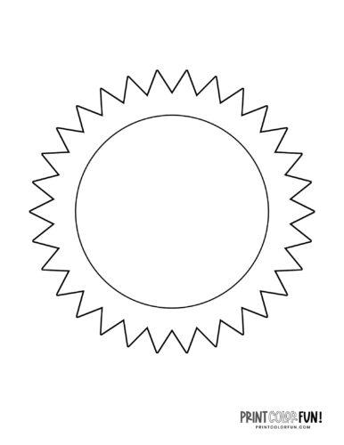 Sun shape coloring page (1)