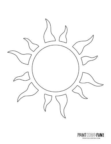Sun shape coloring page (4)