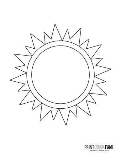 Sun shape coloring page (5)