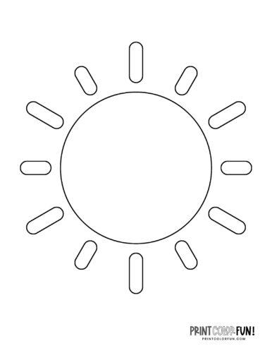 Sun shape coloring page (7)