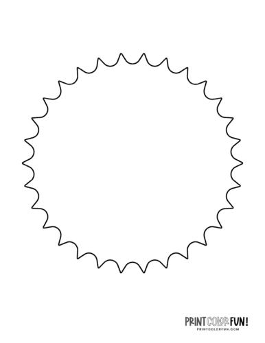 Sun shape coloring page (8)