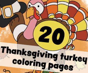 Thanksgiving turkey coloring pages for some free printable holiday fun-001
