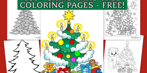Top 100 Christmas tree coloring pages The ultimate (free!) printable collection