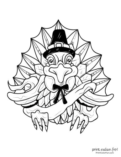 Turkey coloring book page