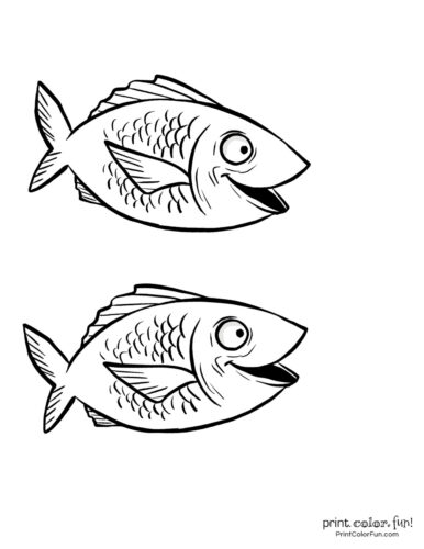 Two cute fish free coloring page from PrintColorFun com (3)