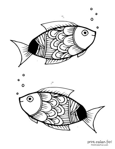 Two cute fish free coloring page from PrintColorFun com (4)