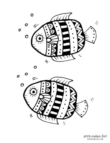 Two cute fish free coloring page from PrintColorFun com (5)