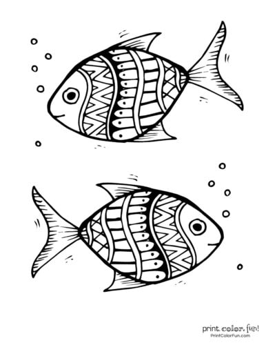 Two cute fish free coloring page from PrintColorFun com (6)