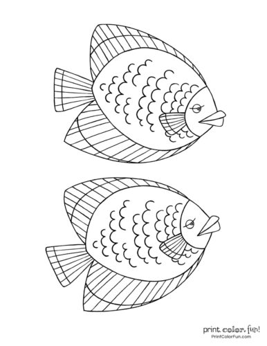 Two funny fish coloring printable from PrintColorFun com (6)