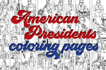 US Presidents Coloring pages of the first 42 American leaders