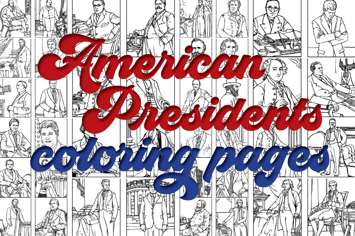 Us presidents coloring pages printables of the first 42 american