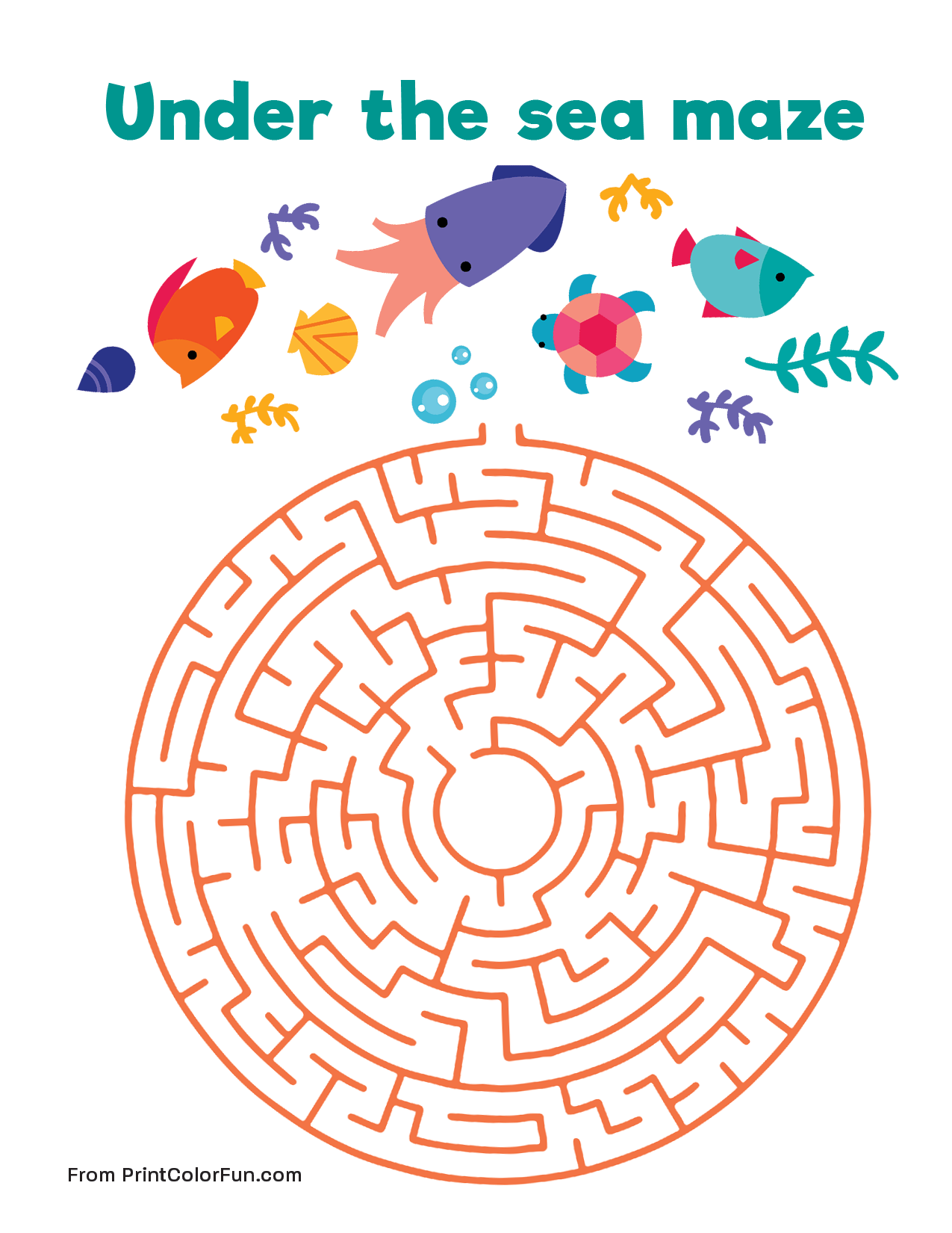 Under the sea maze Medium level