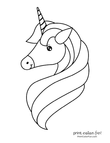 Elegant unicorn with a long mane
