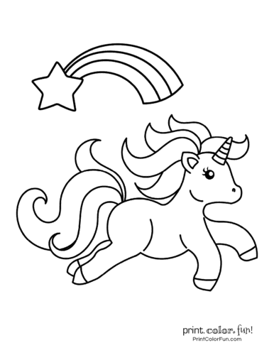 Unicorn coloring pages free6