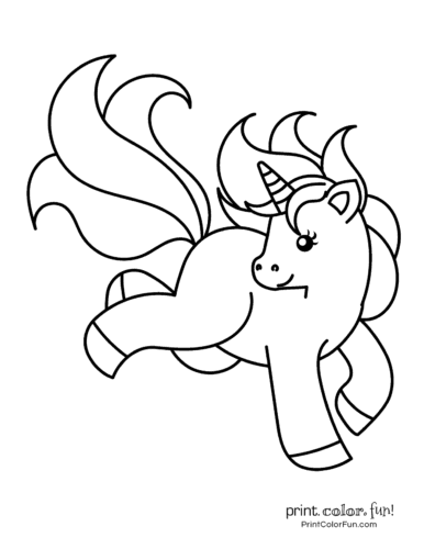 graphic about Cute Unicorn Coloring Pages Printable called Lovable My Tiny Unicorn: 5 option coloring web pages in the direction of print