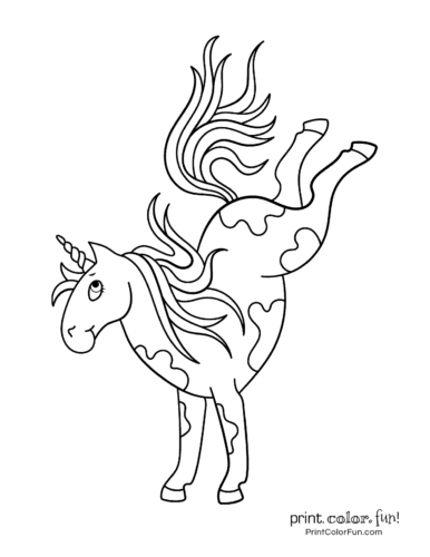 Unicorn coloring pages printable3