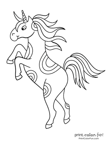 Unicorn coloring pages printable4