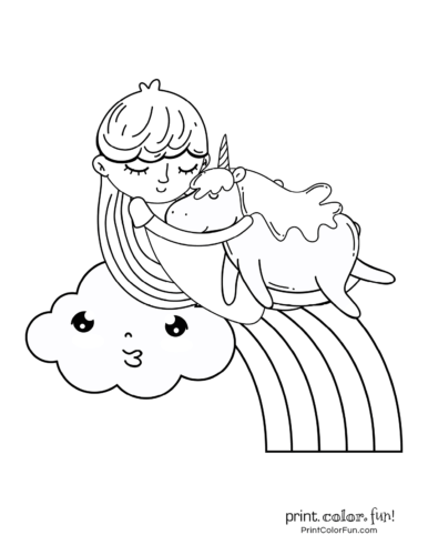 Unicorn printable coloring pages4