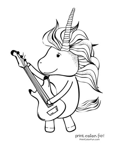 Unicorn printable coloring pages6