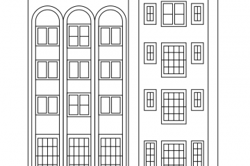 Building house coloring pages Royalty Free Vector Image | 240x360