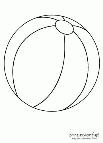 coloring this beach ball printable page beach ball