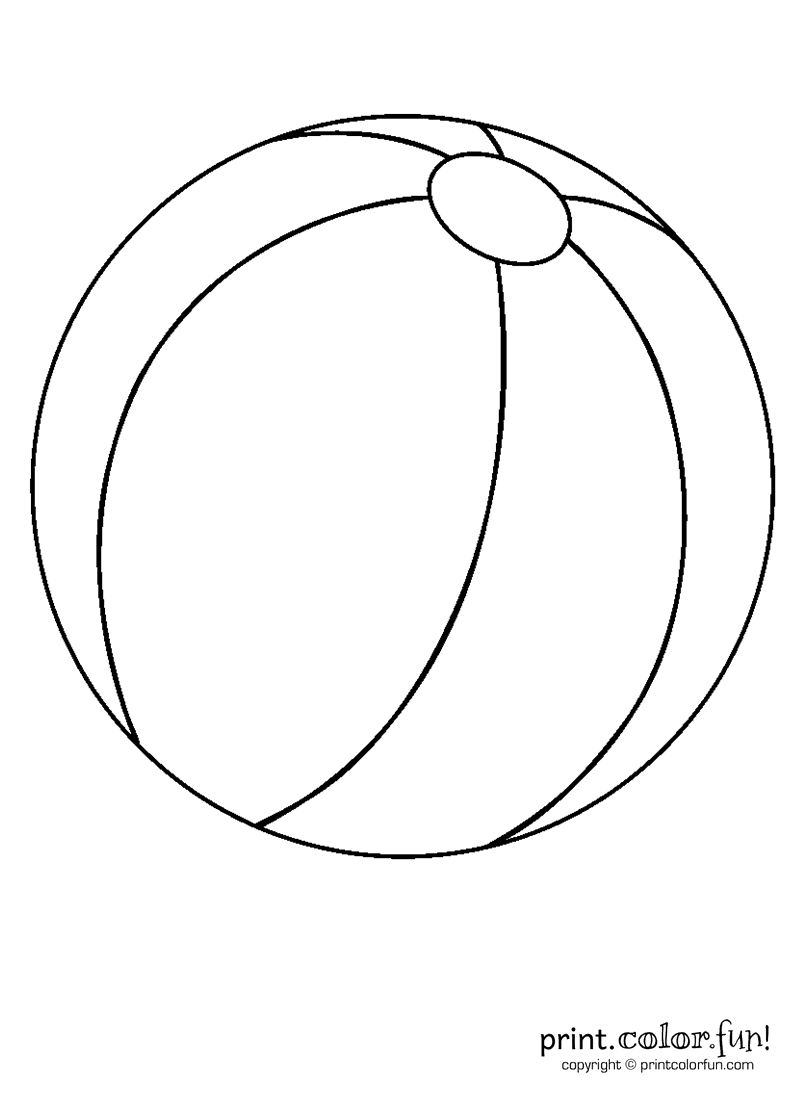 Beach ball coloring page - Print. Color. Fun!