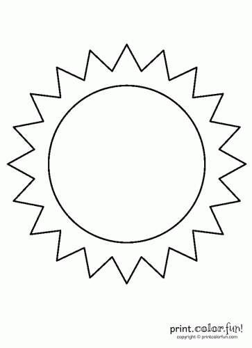 Free Coloring Pages Of Sun Color And Print