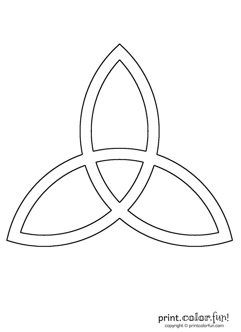 Celtic triad coloring page Print Color Fun
