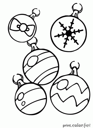 christmas ornaments - Coloring Pages Christmas Ornaments