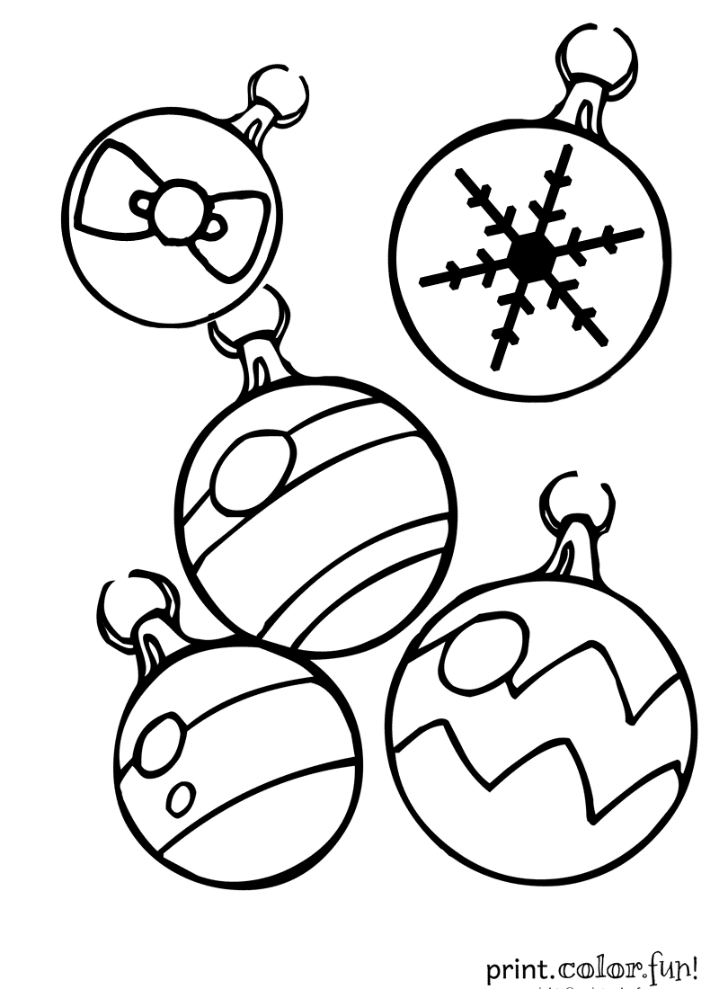 Coloring Pages Christmas Ornaments Color Pages christmas ornaments coloring page print color fun