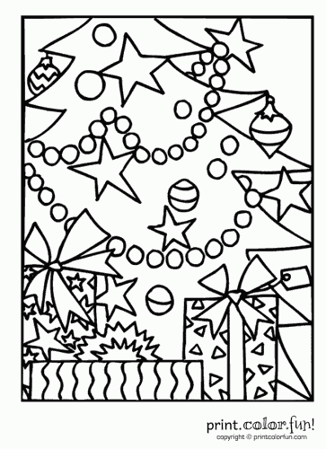 Christmas Tree coloring page | Free Printable Coloring Pages | 500x363